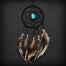 Dream Catchers For Your Car Black Turquoise Stone Car Mirror Dream Catcher Small 1