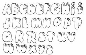 bubble letter font printable outlines letters a z graffiti alphabet blue beetle coloring pages ideal include