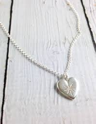 sterling silver wonder ful woman crystal heart necklace