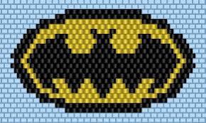 Brick Stitch Patterns Custom Free Brick Stitch Pattern Batman Pinterest Brick Stitch