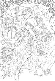 Kleurplaat Anime Fairy Tale Colouring Pages