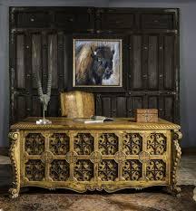 elegant office desk. Wonderful Desk Hand Forged Teak Executive Desk Presidio Desk Western Office  Furniture Rustic Intended Elegant Desk E