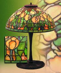 studios yellow tuliptable lamp 14 domical shade of yellow tulip blossom and