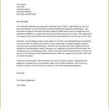Professional Resignation Letter Format Examples Copy Sample ...