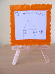 diy popsicle sticks crafts picture frame kids decor ideas