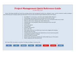 project management quick reference guide master msproject 2010
