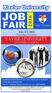 com your career starts here the xavier university job fair 2016