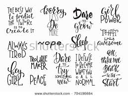 Lettering Photography Overlay Set Motivational Quote Stock Vector ...