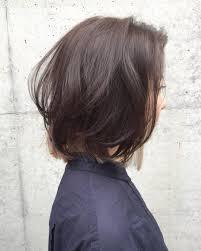 お客様ヘアスタイル 重めのボブインナーカラー 髪の毛をおろしてる時は