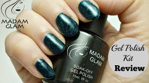 diy shellac gel nails at home madamglam gel polish kit review