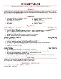 best hvac and refrigeration resume example livecareer create my resume