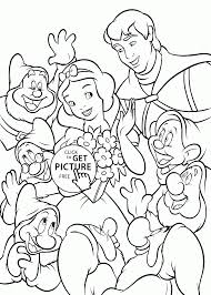 Small Picture Coloring Pages Snow White In Forest Coloring Page For Kids Disney