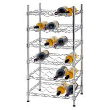 grooved wire shelves hold bottles securely in place great for display and flavor retention shelves are adjule in 1 inch increments chrome finish for