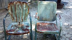 preserving the surfaces of old lawn chairs
