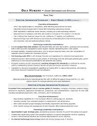 CIO Sample Resume by Executive Resume Writer