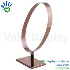 Leather Belt Display Stand Best China Customized Logo Rose Gold Silver Color Metal Belt Display