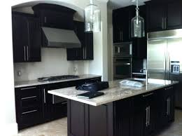 black kitchen cabinets with grey countertops flooring white dark counter tops