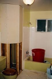 mustard yellow tub and toilet updated