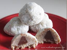 How to make an easy christmas sugar cookie recipe from scratch. Chocolate Filled Snowballs The 10 Days Of Vintage Christmas Cookies Mid Century Menu