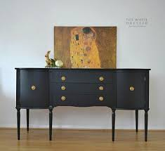 black sideboards and buffets. Perfect And Beautiful Black Sideboard  Buffet Painted In Coal Black By Fusion Mineral  Paint  To Sideboards And Buffets O