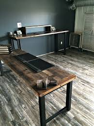 desk office design wooden office. Reclaimed Wood Office Desk Zoom Z Pertaining To Decorations 17 Design Wooden W