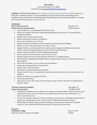 Patient Representative: Sample Resume