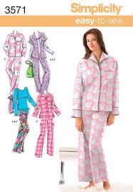 Pajama Patterns Custom Misses Or Plus Size Pajamas Sewing Pattern 48 Simplicity Time