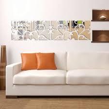 mirror acrylic diy removable wallpaper art decor living room decoration wall stickers