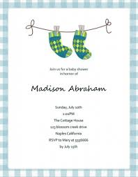 Invitation Information Template Baby Shower Invitation Cute Blue Socks Baby Shower Invitation 12