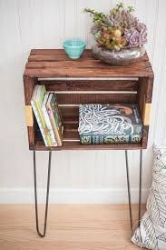 crate table diy cozy innovative wooden bedside coffee