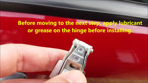 5 steps guide door hinge replacement alfa 147 applicable to fiat 500 you