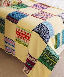 Join our 'Knit-A-Long' and make a beautiful patchwork knitted blanket & Create & Collect Knitalong throw December 2014 Adamdwight.com