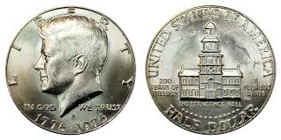 1976 D Kennedy Bicentennial Half Dollar Coin Value Prices