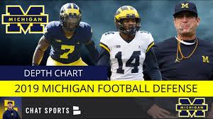 Michigan Football Depth Chart Michigan Football Depth Chart 2019 Defense Replacing Stars Rashan Gary Chase Winovich Devin Bush
