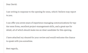 Resume Cover Letter Examples 2017