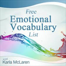 Your Emotional Vocabulary List Karla Mclaren Karla Mclaren
