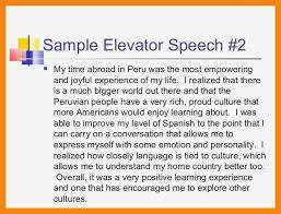 Elevator Pitch Examples For Students Elevator Speech Example For Students