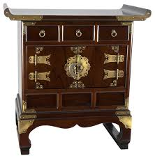 traditional korean furniture. Beautiful Furniture Korean Antique Style 3 Drawer End Table Cabinet For Traditional Furniture