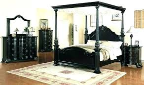 White Wood Canopy Bed Twin Frame Best Of Varnished Brown Wooden F ...