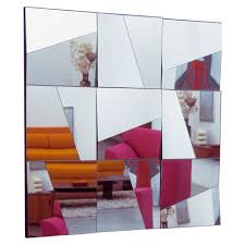 glass wall mirror panels modern