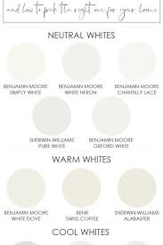 The Best White Paint Colors For Interiors Paint And