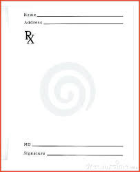 Blank Prescription Pad Template Word Images Of Download Getreach Co