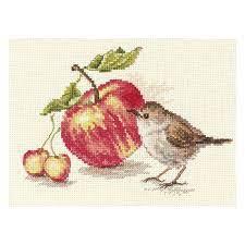 Bird and an apple From Alisa - Alisa - Kits - Casa Cenina