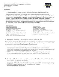 west forsyth high school ap language composition summer