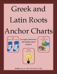 Latin Roots Chart Beginning Greek And Latin Roots Anchor Charts