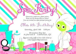 Spa Birthday Party Invitation Template Free Templates For Adults