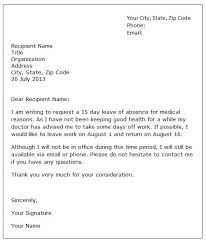 Letter Of Vacation Leave From Work Kadil Carpentersdaughter Co