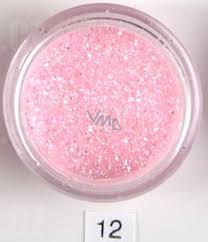 Ocean Crystaline Sypký Glitr Na Nehty Tělo Obličej 12 Růžový Třpyt 2 G