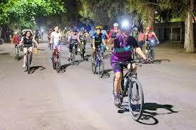 Resultado de imagen de bicicletada nocturna