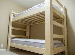 Making bunk beds Loft Bed Picture Of Finishing Instructables Easy And Strong 2x4 2x6 Bunk Bed Steps with Pictures